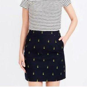J. Crew Pineapple Pencil Skirt